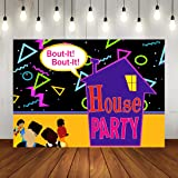 90s House Family Party Photo Backdrop Bounce House Theme Birthday Background Party Decorations Throwback Party…