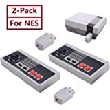 2-Pack NES Controller Wireless.Wireless Game Controller for NES Classic Edition.No-Wired Gamepad Joypad with Receiver…