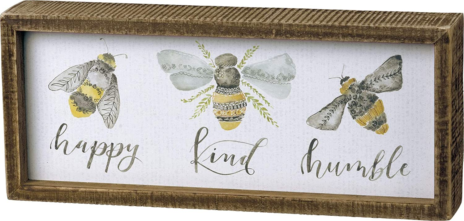 Primitives by Kathy Bees Inset Box Sign