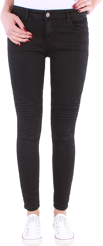 f055ba90f6ede6 Black Denim Damen High Waist Hochschnitt Stretch Jeans Hose Röhre  Röhrenjeans Skinny 17l: Amazon.de: Bekleidung