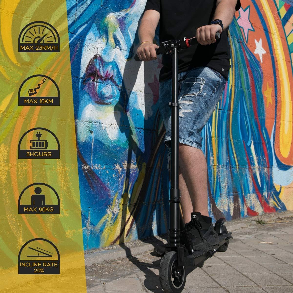 Comprar Hiboy S1 Patinete-Scooter Eléctrico Plegable Urbano con Batería de Litio Recargable, Negro, Adultos Unisex, Modelo, único