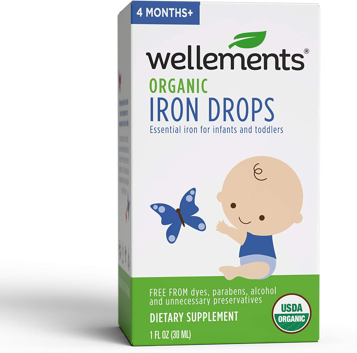 Wellements Organic Iron Drops
