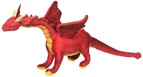 Hansa Baby Dragon Plush, Red