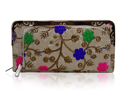 Majik Latest Embroidered Design Hand Purse For Valentine Gifts For