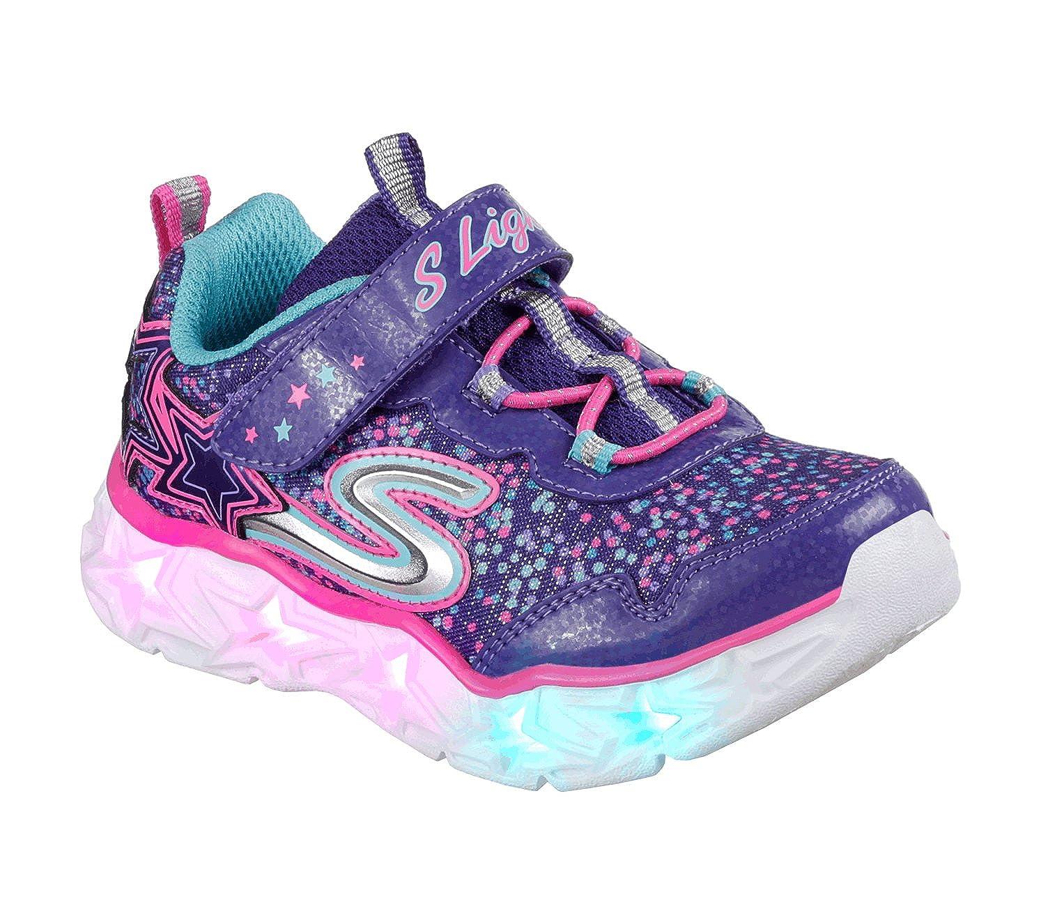 Skechers Kids' Galaxy Lights Sneaker,PurpleMulti,9 Medium