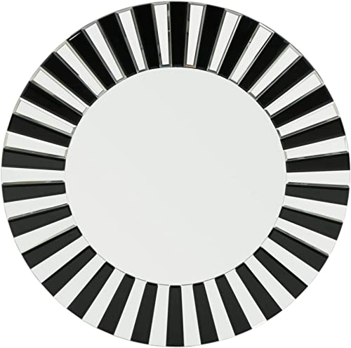 Christopher Knight Home 305151 Abell Glam Circular Wall Mirror, Black
