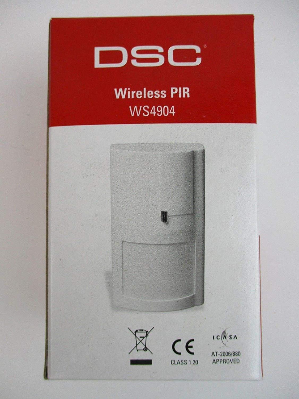 DSC WS4904P Sensor de Infrarrojos Inalámbrico Pared Blanco ...