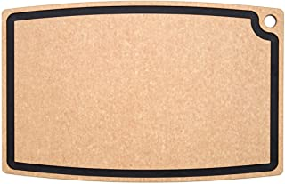 product image for Epicurean Chef Series Chef Cutting Board with Juice Groove, 27-by-18-Inch, Natural/Slate