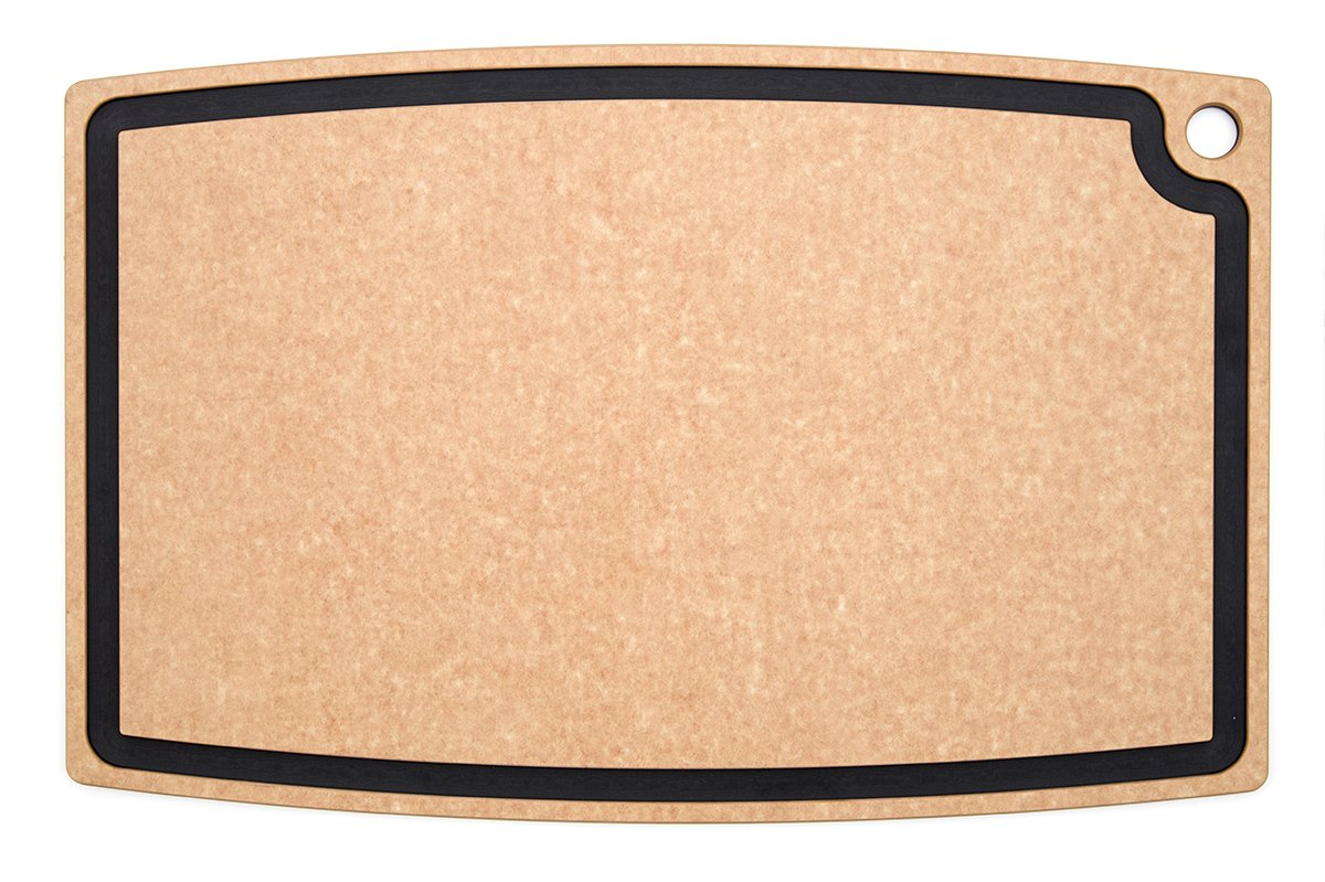 Epicurean Chef Series Chef Cutting Board with Juice Groove, 27-by-18-Inch, Natural/Slate