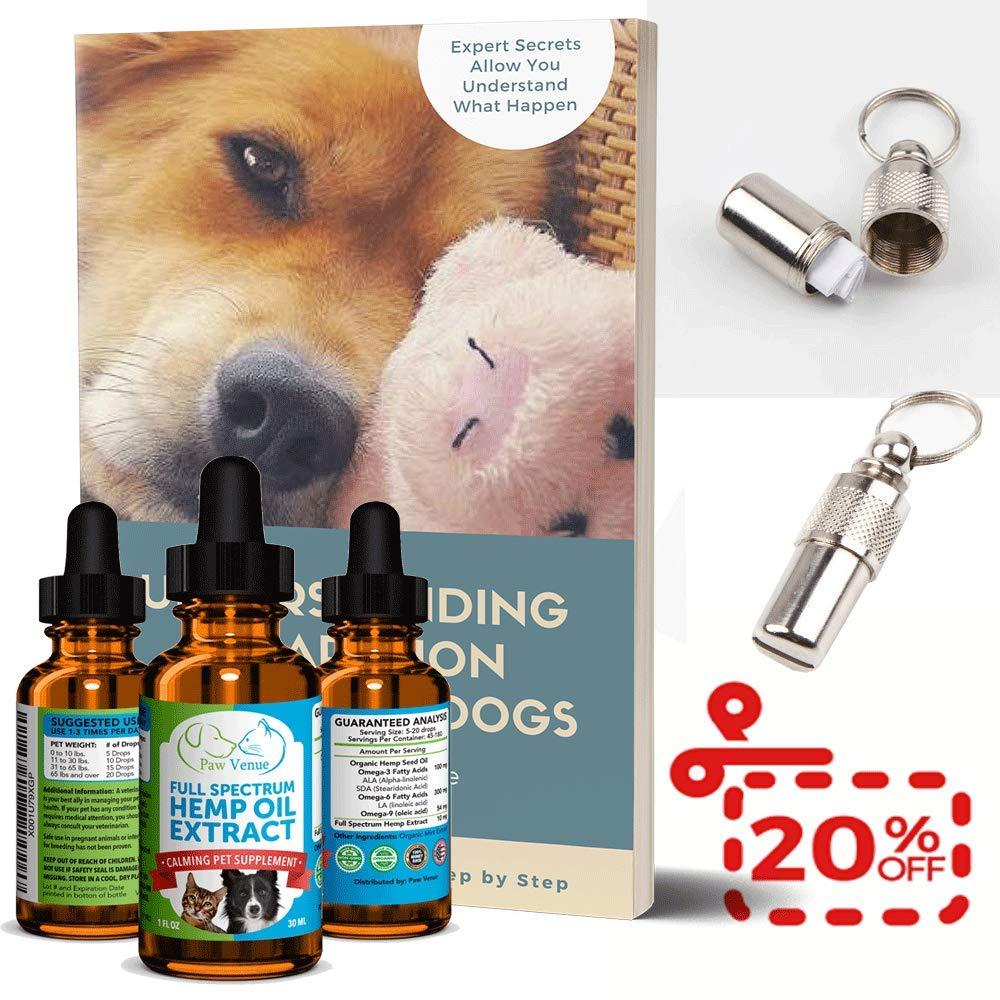 Amazon.com: Aceite de cáñamo para perros y gatos, espectro ...