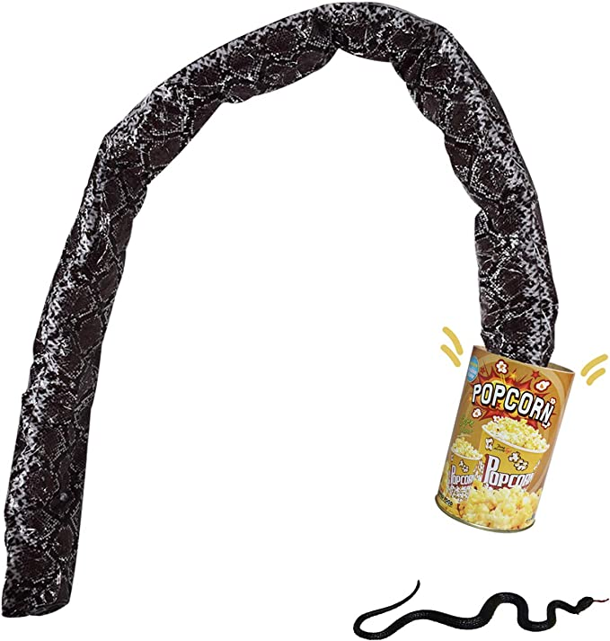 3x Adults Pop out Snake in a Can Prank Gag Gift Joke Party Stocking Filler Toys