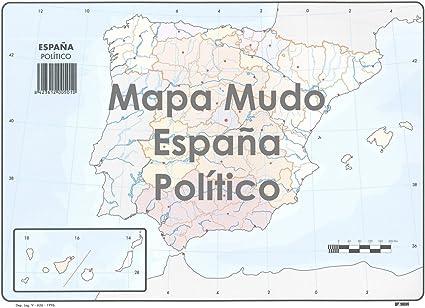 Mapa Mudo SELVI Color Din-A4 Madrid Político, Caja x50: Amazon.es: Oficina y papelería