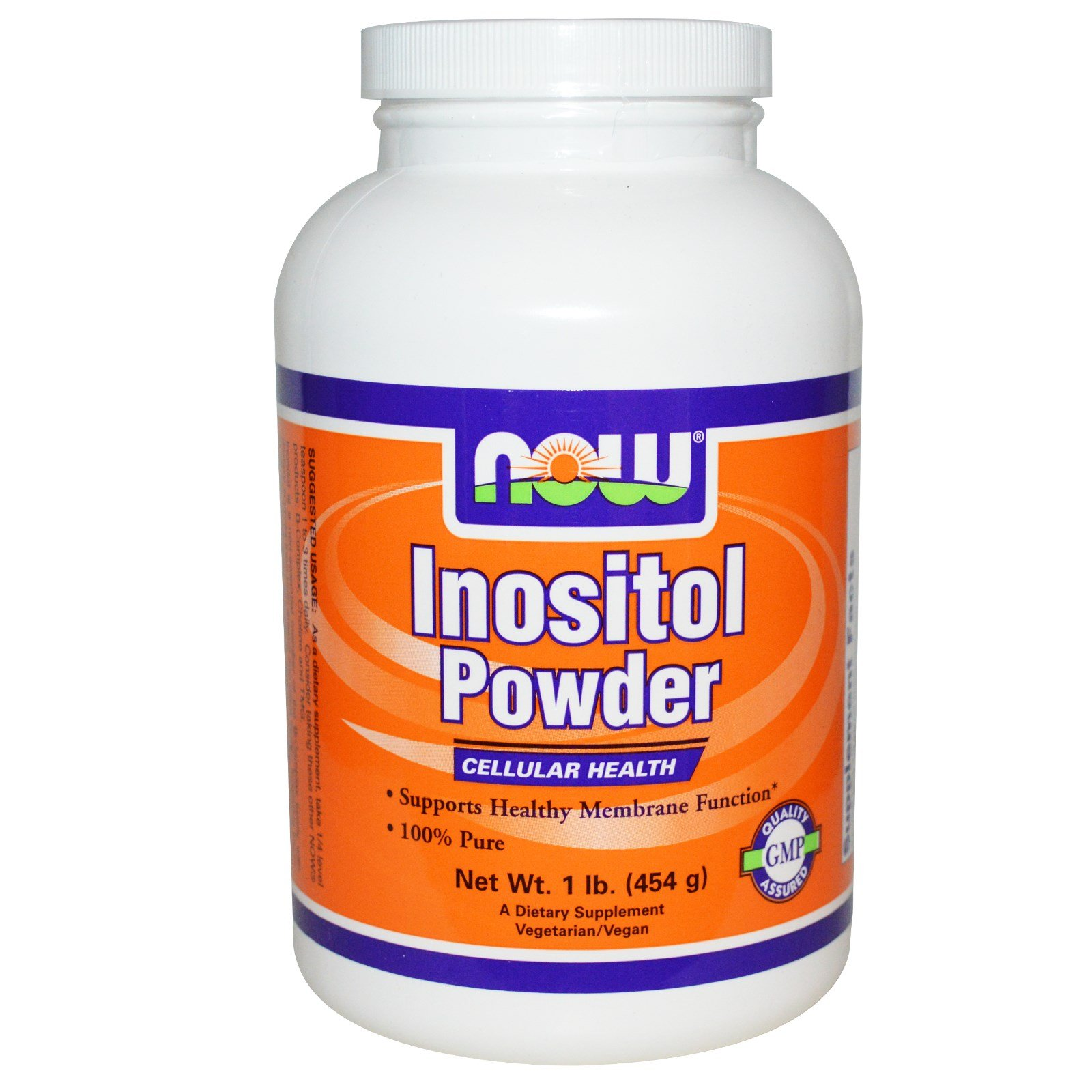 Now Foods 100% Pure Inositol Powder, Powder 1 lb (Pack of 3)