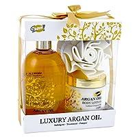 GLOSS! Coffret de Bain, Argan Oil, 3 Produits, Coffret Cadeau-Coffret de bain