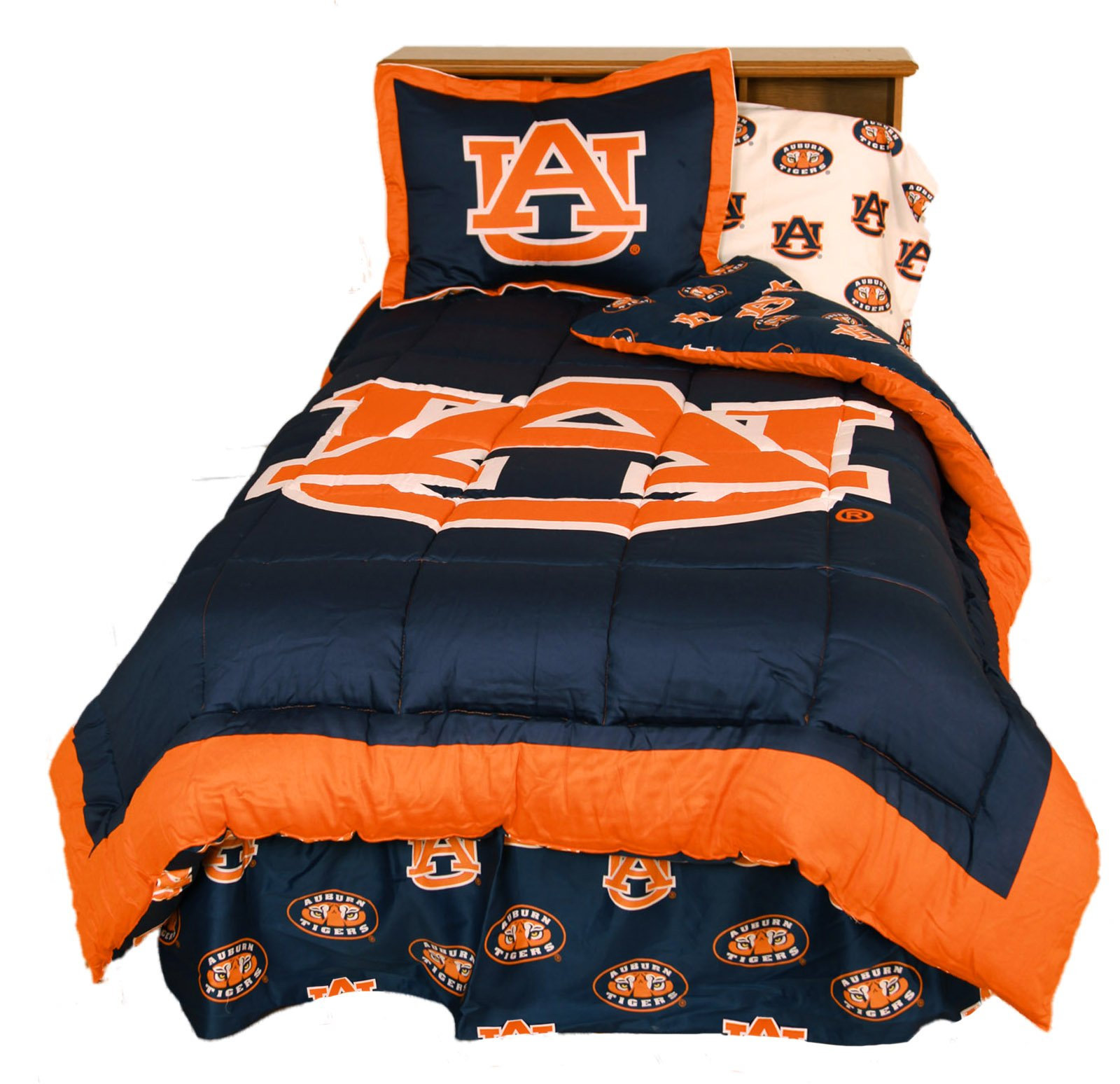 College Covers Auburn Tigers Reversible Comforter Set, King by College Covers (Image #1)