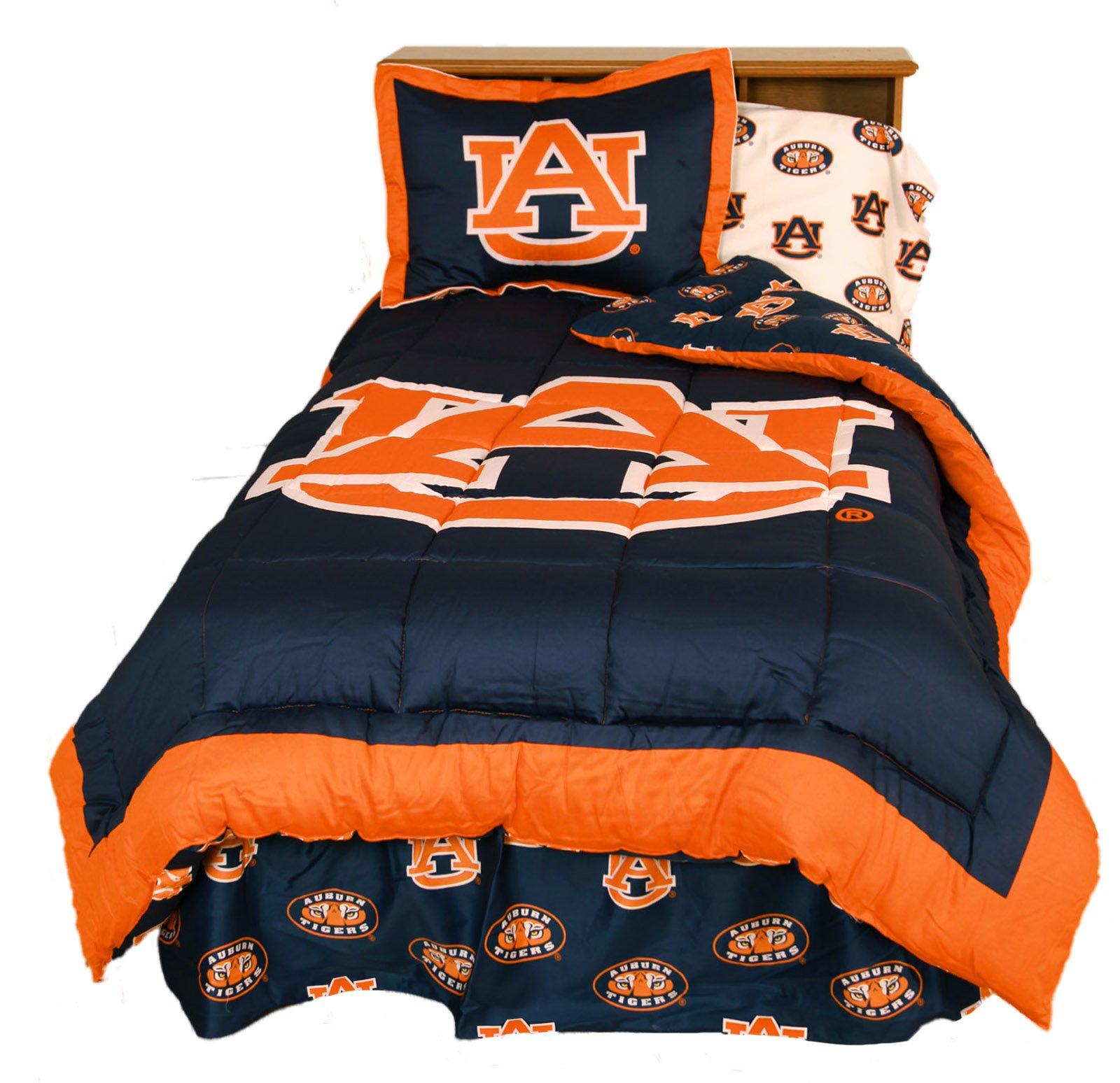 College Covers Auburn Tigers Reversible Comforter Set, King