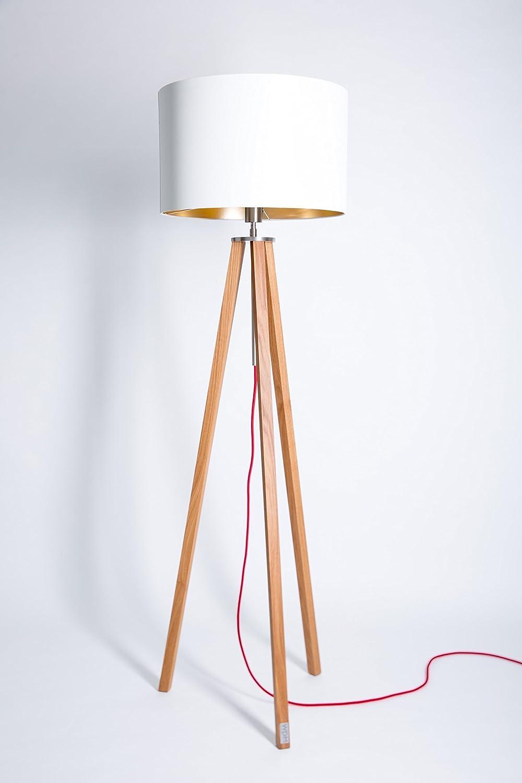 Wdm Eiche Stehlampe Tripod Wohnzimmer Lampe Stehleuchte Leuchte