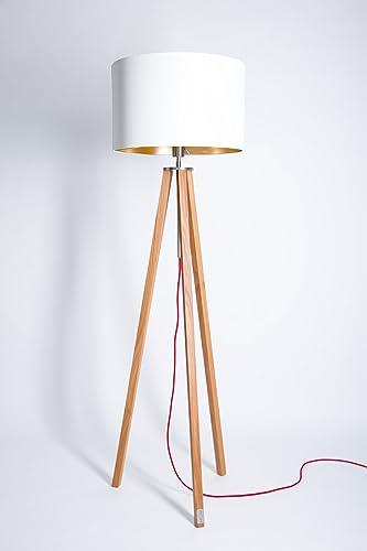 Dreibein Lampe Weiss