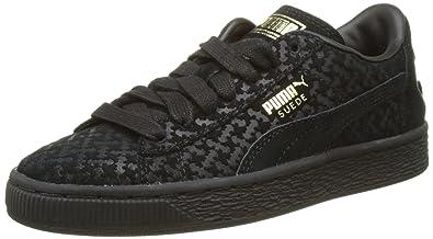 Puma Batman Suede FM Jr, Sneakers Basses Mixte Enfant, Noir Black Team Gold  01 6355d3792907