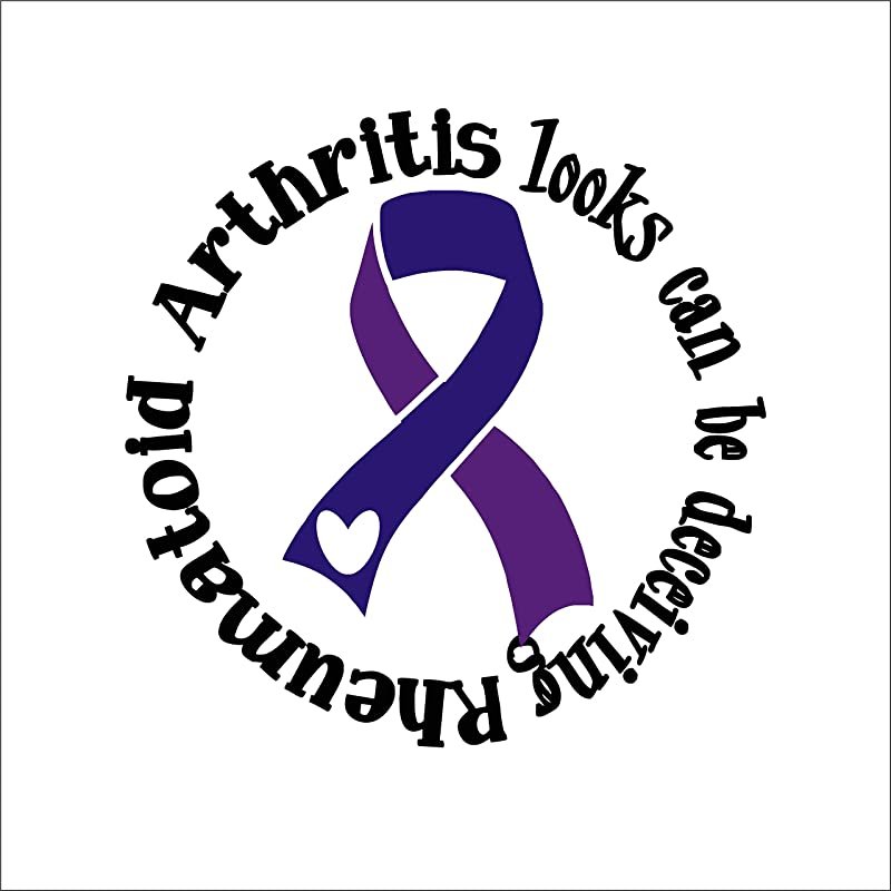 Juvenile Rheumatoid Arthritis Awareness Ribbon Vinyl Decal Choose Size 11 x 5.5