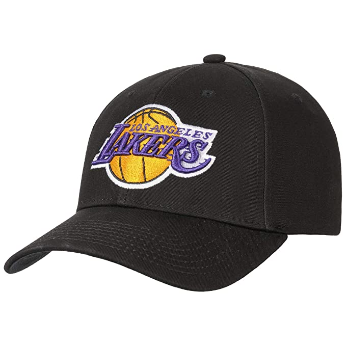Mitchell & Ness Gorra Low Profile Lakers by Gorragorra de Beisbol (Talla única - Negro