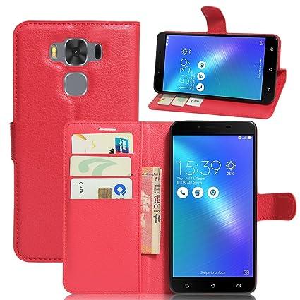 Nadakin ASUS Zenfone 3 MAX 5.5 Inch ZC553KL Cartera de Cuero ...