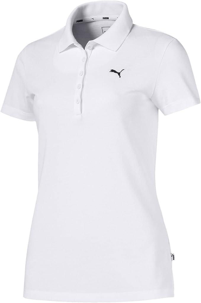 PUMA ESS Camiseta Polo, Mujer, White-Cat, XXL: Amazon.es: Ropa y ...