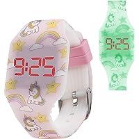 KIDDUS Reloj LED Digital para niña o niño. Pulsera de Silicona Suave para niños y Adultos. Batería Japonesa reemplazable…