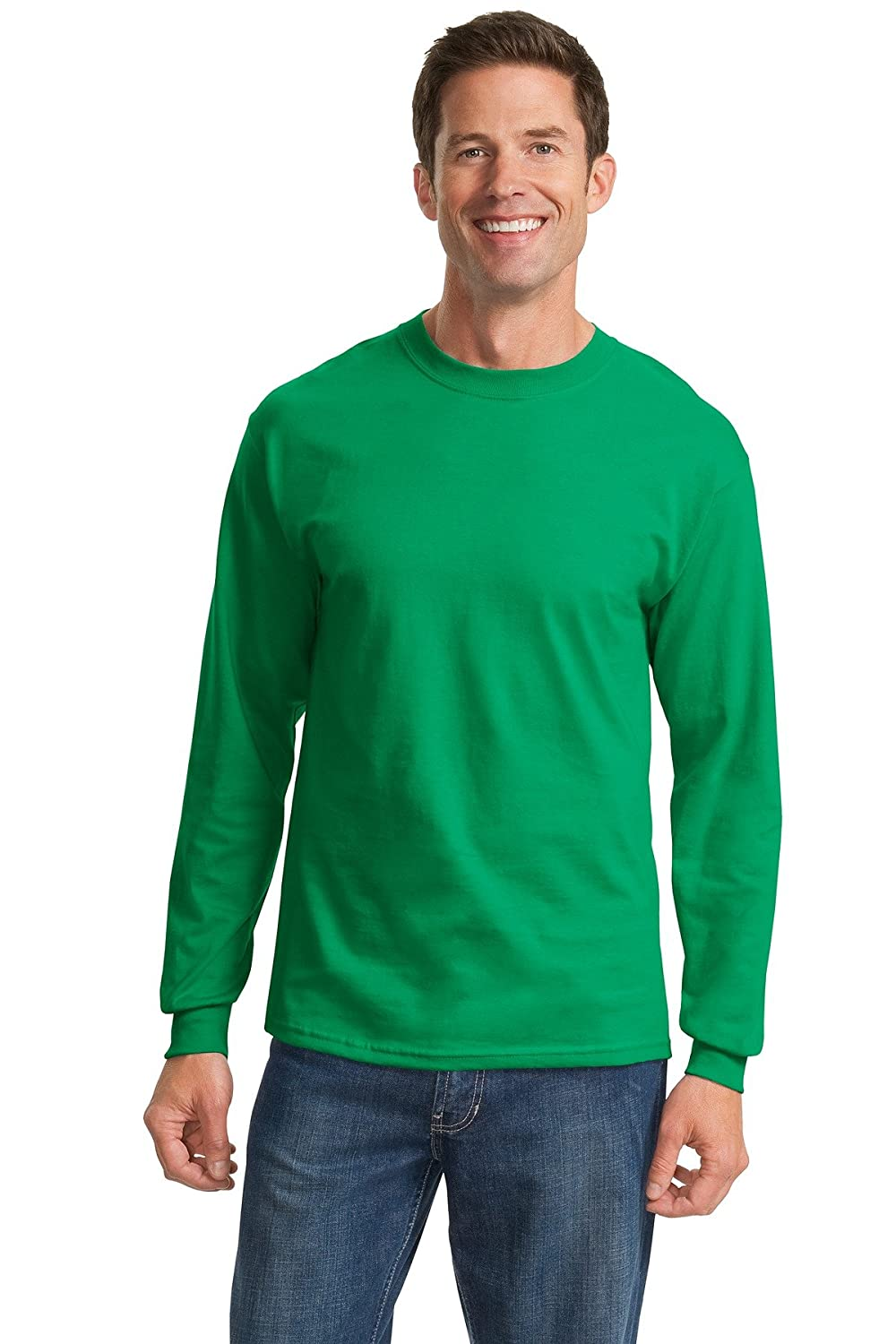Port & Company Long Sleeve Essential T-Shirt, Kelly
