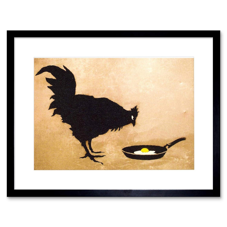 Amazon.com: Banksy Chicken Egg Graffiti Street Art 12x16\'\' Framed ...