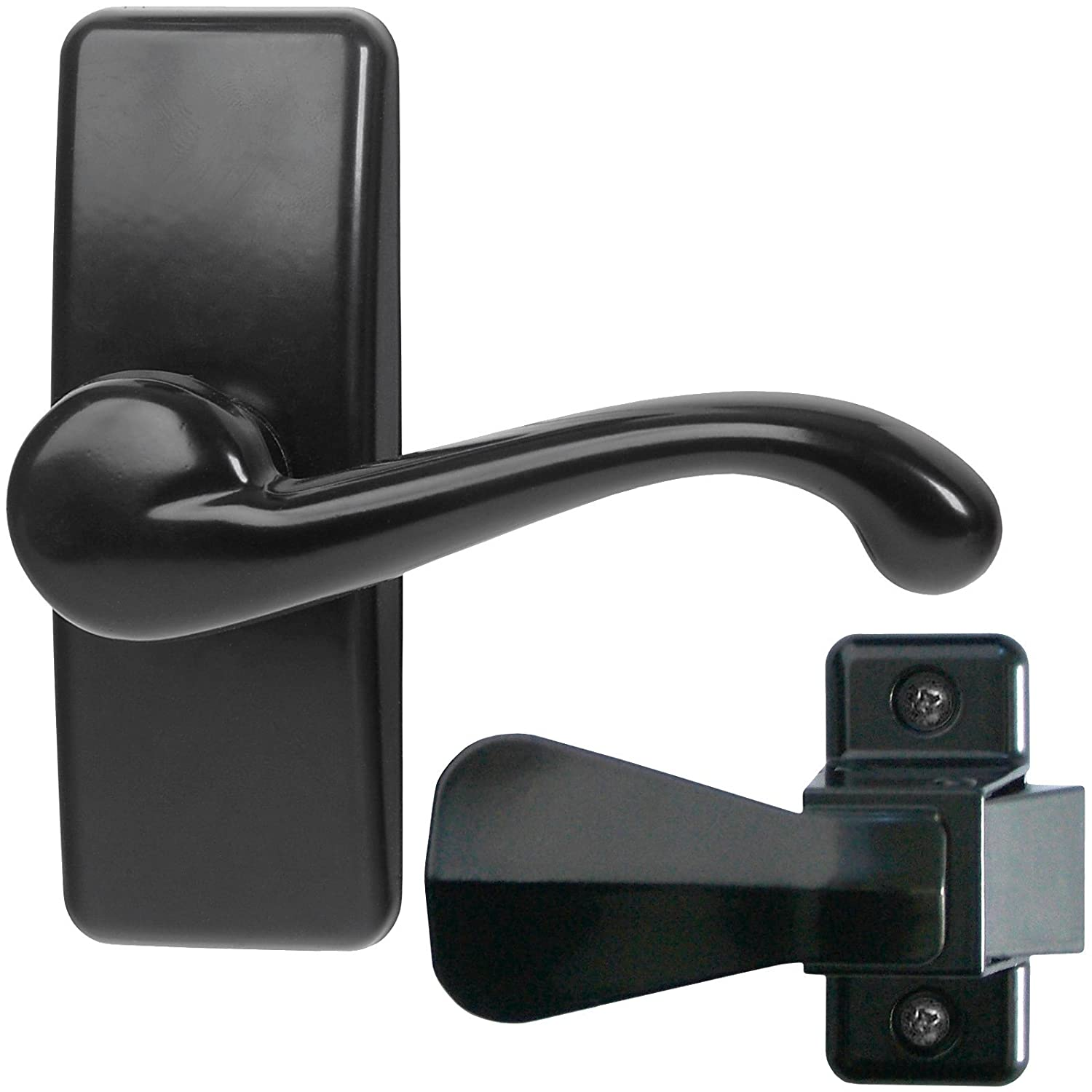 Ideal Security GL Lever Set For Storm And Screen Doors A Touch Of Class,  Easy To Install Black     Amazon.com