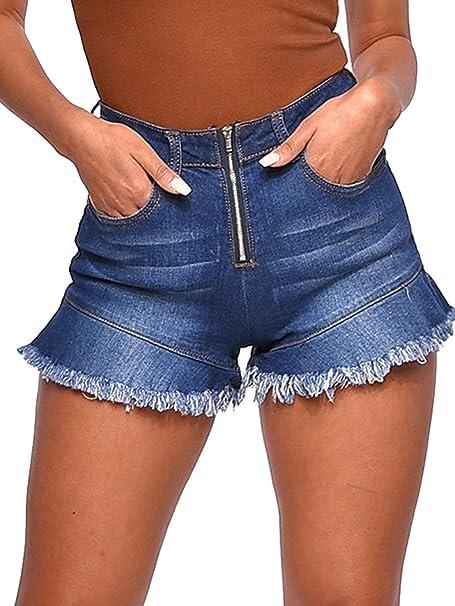 Amazon.com: Govc - Pantalones cortos vaqueros para mujer ...