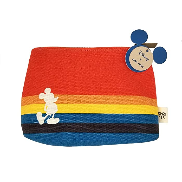 Junk Food Mickey Rainbow Cosmetic Bag - Orange