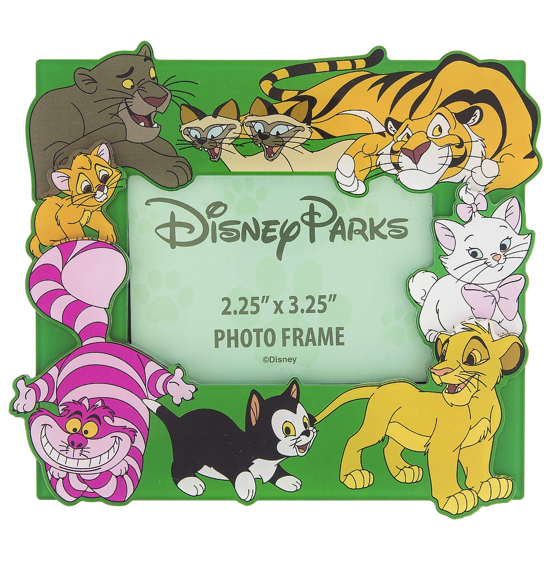 Disney Parks Cat Cats Magnetic Photo Frame with Stand Figaro Cheshire Marie by Disney