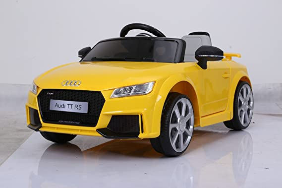 Kidbee Audi TT RS Licensed Model Ride On Car Inbuilt Music, USB+MP3  Connector, Dashboard with LED Light - JE1198, Yellow
