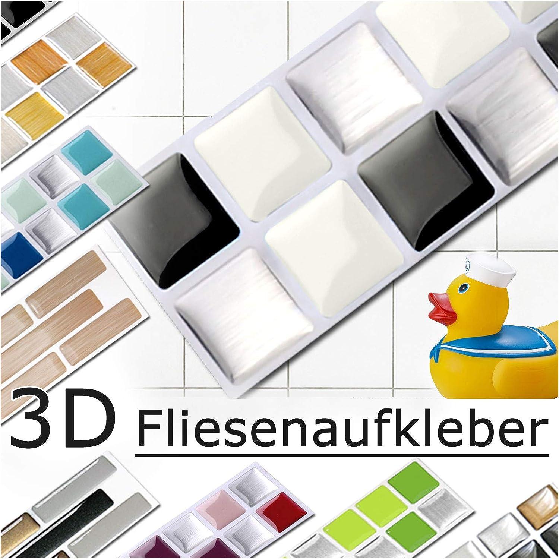 Grandora 7 Stickers 25,3 x 3,7 cm Rouge Beige Argent Autocollant pour carrelage Design 2 I 3D mosa/ïque Feuille de carrelage Cuisine baignade Sticker Mural d/écor de carrelage W5288
