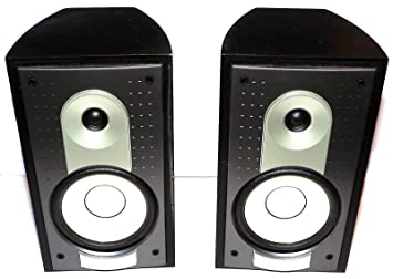 2 X YAMAHA NS AP6500F Stereo Satelite Front Rear Black Wood Bookshelf Speakers