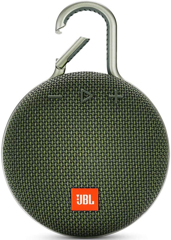 JBL Clip 3 Waterproof Portable Bluetooth Speaker - Green