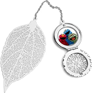 WXDGLL Bookmarks with Pendants Book Protection Tools Cookie Monster Metal Leaf Bookmarks, for Accessories, Gifts and Souvenirs