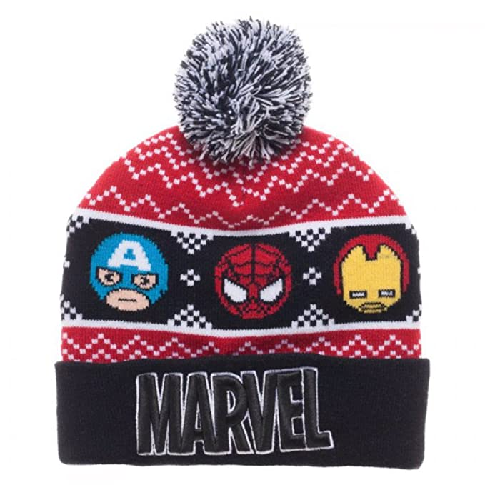 Marvel Comics Kawaii Fair Isle Pom Beanie