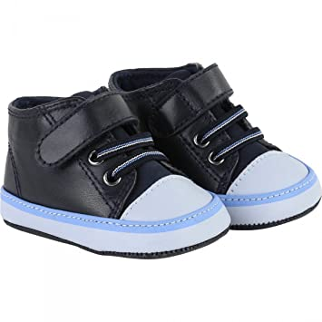 d22e997910a5a Hugo Boss J99047 849 Leather Hi Top Trainers Navy Baby Shoes  Amazon.co.uk   Baby