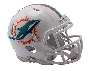 Riddell - Réplica de casco de fútbol americano, diseño de los Miami Dolphins: Amazon.es: Deportes y aire libre
