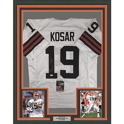 Autographed Bernie Kosar Jersey - FRAMED 33x42 White COA - JSA Certified -  Autographed NFL Jerseys bb1cacf64