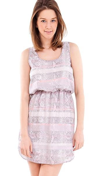 Clothes Effect - Vestido - Animal Print - Sin mangas - para mujer Rosa rosa claro