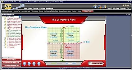 Amazon.com: 6th Grade Math Full Curriculum SW CD Premium Edition ...