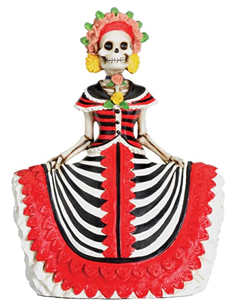 amazon com dod red senorita mexican traditional skeleton sculpture