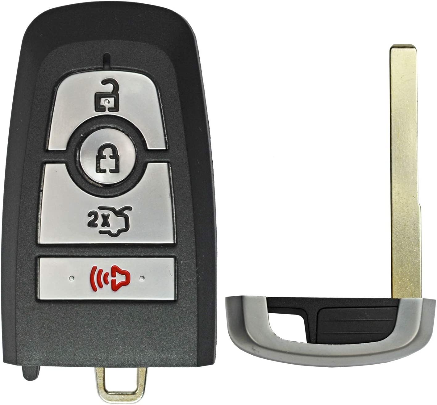 QualityKeylessPlus Remote Replacement Case 4 Button Ford FCC ID M3N-A2C31243800
