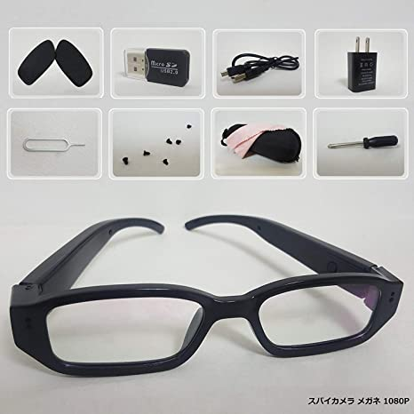 b072cb04f3 Amazon.com   2019 Upgraded 1080p Glasses with Camera-16GB Micro SD ...
