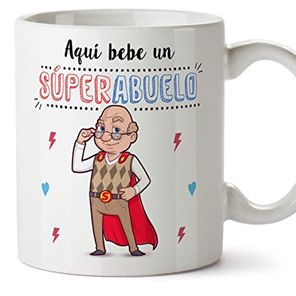 Mugffins Tazas Para Abuelos Aquí Bebe Un Super Abuelo Taza