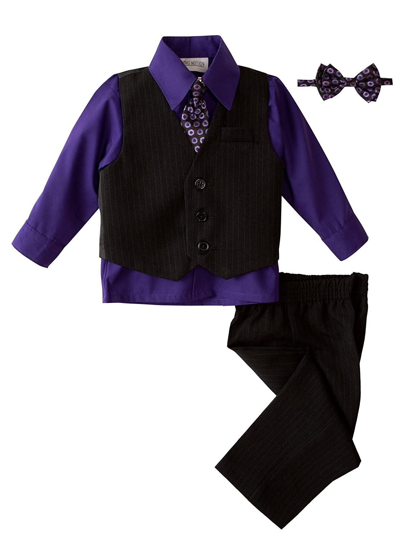 Spring Notion Baby Boys 5 Piece Pinstriped Vest Set ERF202-SNBM-200